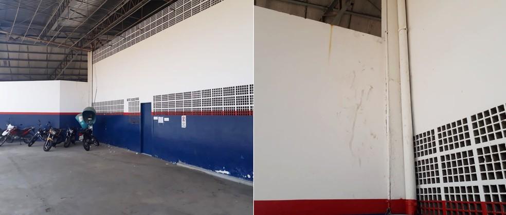 Criminosos escalaram parede e entraram no prédio pelo banheiro da unidade — Foto: Marksuel Figueredo/Inter TV Cabugi