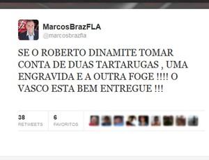 Ex-dirigente do Fla diz que time do Vasco é filme de terror e debocha de Dinamite
