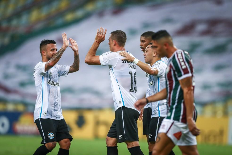Matheus Henrique Fluminense x Grêmio — Foto: Lucas Uebel/Divulgação