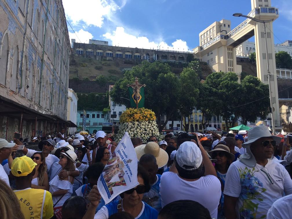 Lavagem do Bonfim 2019 — Foto: João Souza/G1 Bahia
