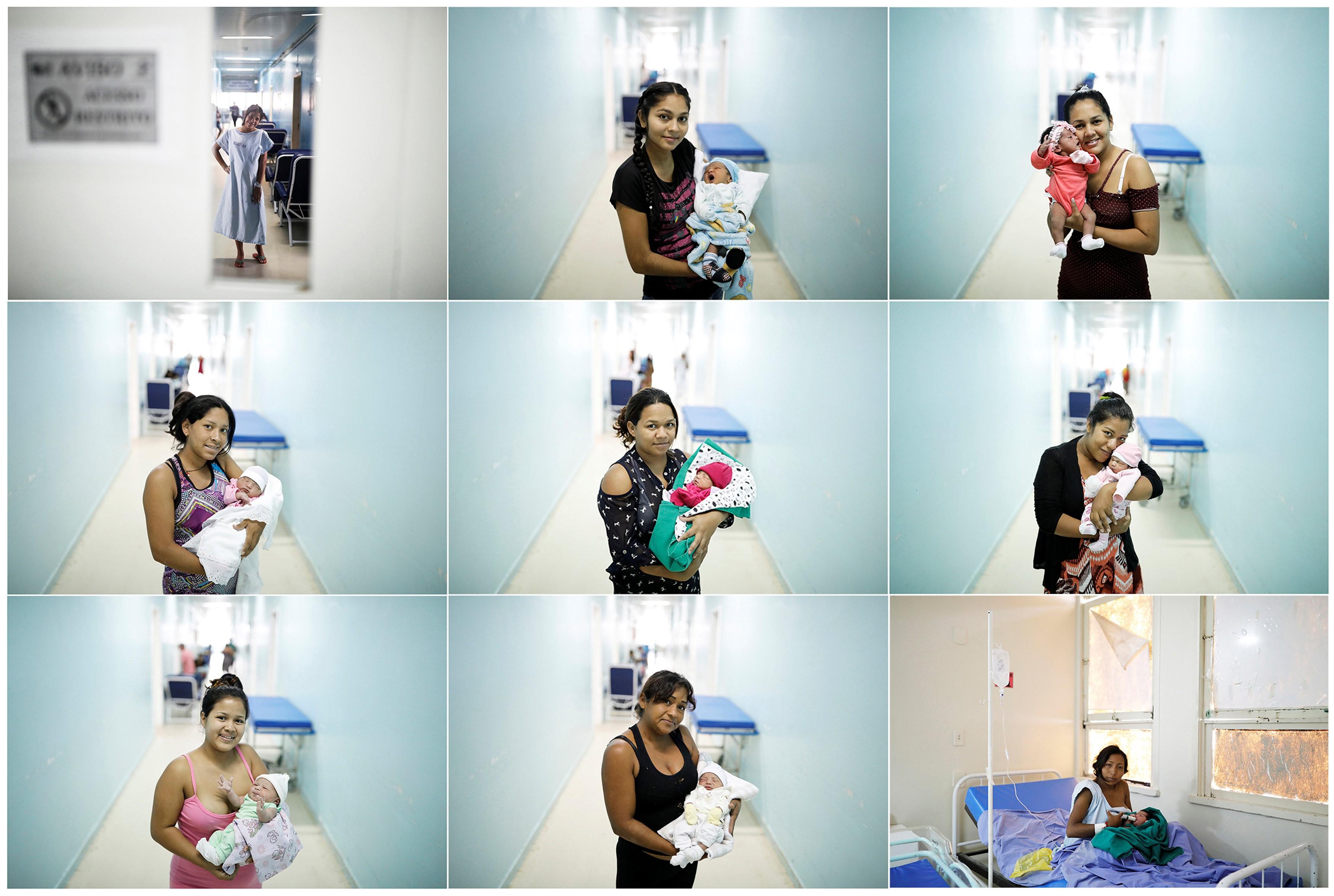 Venezuelanas grávidas têm seus filhos no Brasil