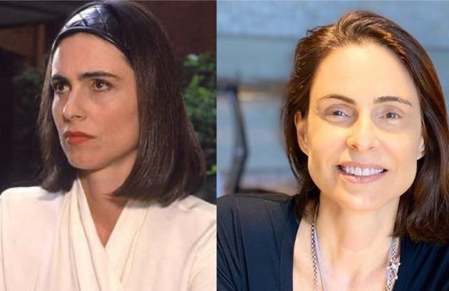 Silvia Pfeifer interpretou Isadora, uma mulher dissimulada e ambiciosa. O trabalho mais recente da atriz foi na novela 'Topíssima' (2019), da Record (Foto: TV Globo - Reprodução/Instagram)