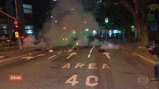 Protesto contra Bolsonaro acaba em confronto no Centro de São Paulo