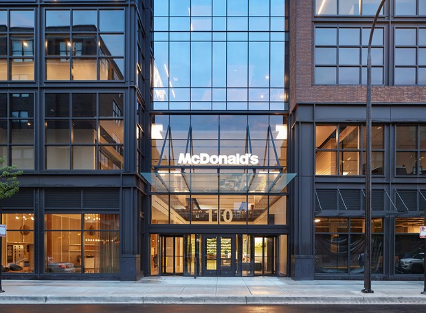 Fachada do escritório McDonald's em Chicago (Foto: arrett Rowland/ Reprodução)