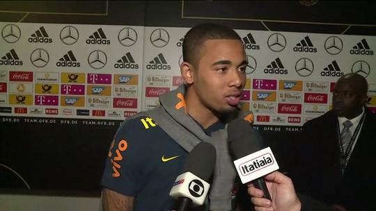 """Gabriel Jesus sobre o gol marcado contra a Alemanha: """"Cabeceio não é meu forte"""""""
