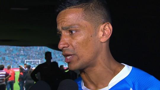 """Autor do gol da vitória, Cícero diz que jamais perdeu a confiança: """"Não vim à toa"""""""