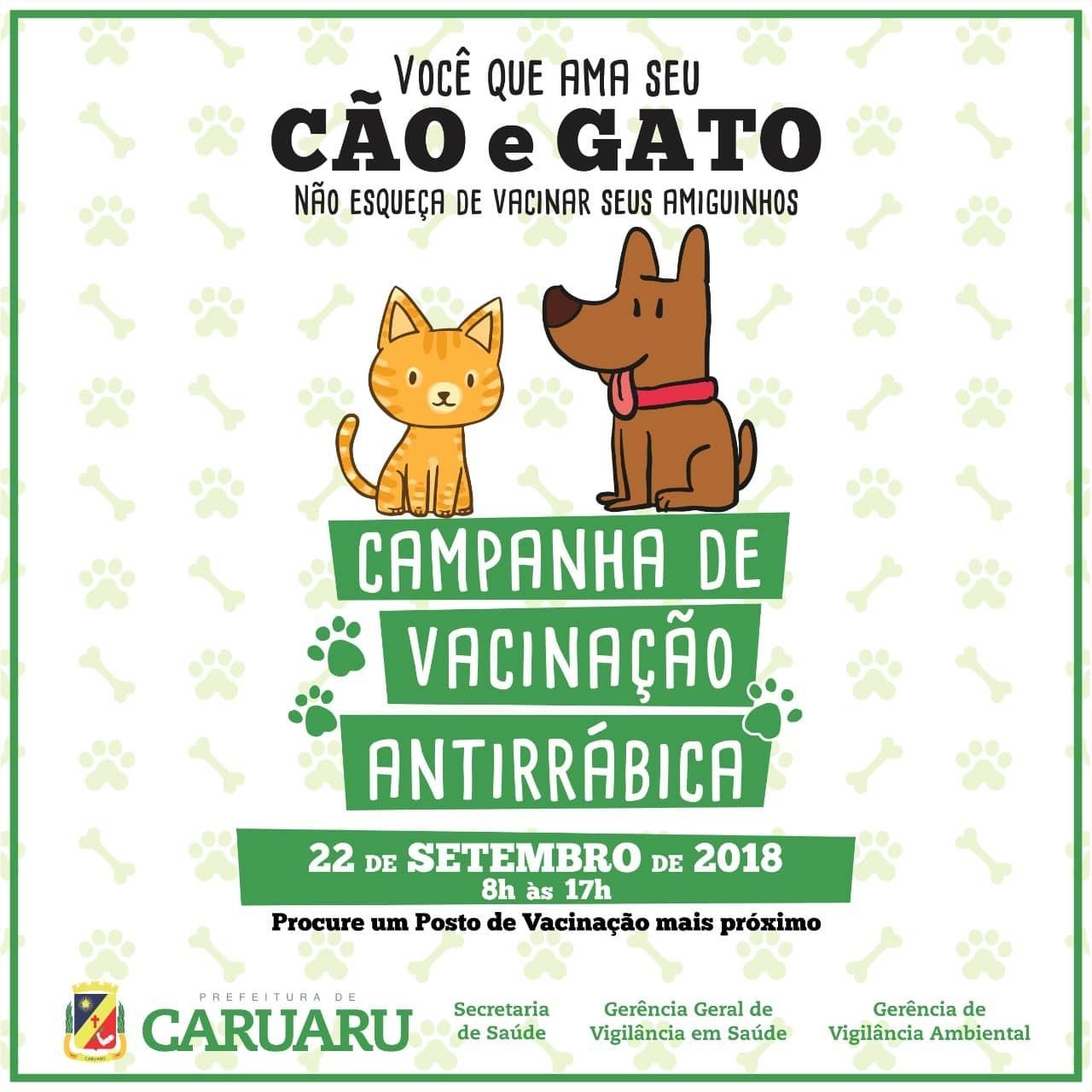Dia 'D da Campanha de Vacinação Antirrábica Animal' é realizada em Caruaru - Radio Evangelho Gospel