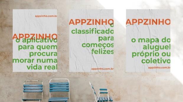 Posteres de divulgação do Appzinho (Foto: Divulgação)
