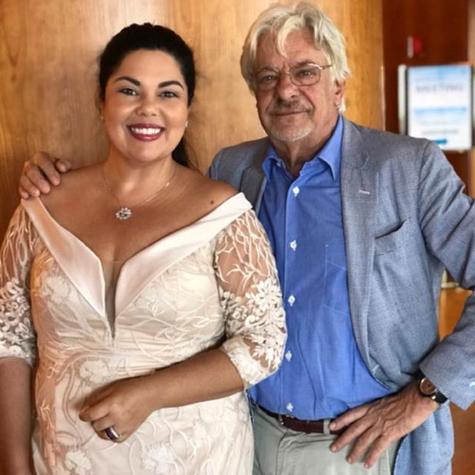 Fabiana Karla e o ator italiano Giancarlo Giannini  (Foto: Arquivo pessoal)
