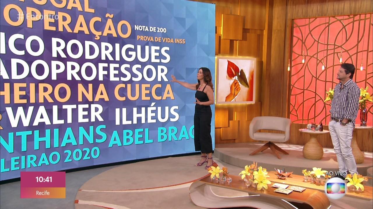 Marcelo Serrado e Fátima comentam os assuntos que estão em alta nas redes sociais