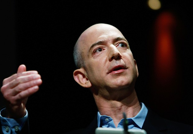 O CEO da Amazon, Jeff Bezos : bilionário investiu no Washington Post e também em foguetes (Foto: Mario Tama/Getty Images)