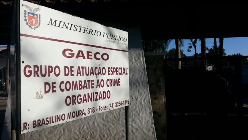 Штаб-квартира Группы специальных действий и борьбы с организованной преступностью (Gaeco) в Куритибе - Фото: Disclosure / Gaeco