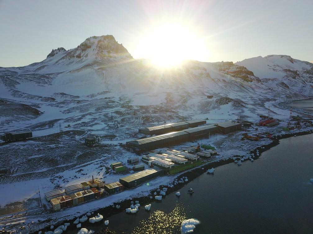 A nova estação brasileira na Antártica será inaugurada, nesta terça-feira (14), pela Marinha — Foto: Divulgação Marinha do Brasil