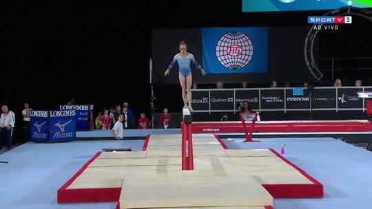 Morgan Hurd vira a nova rainha da ginástica; Thais sofre com quedas