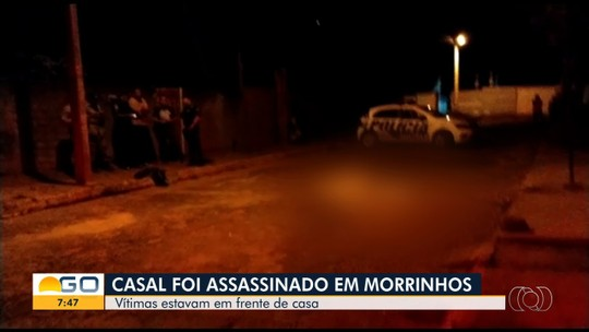 Casal é morto a tiros na porta de casa, em Morrinhos