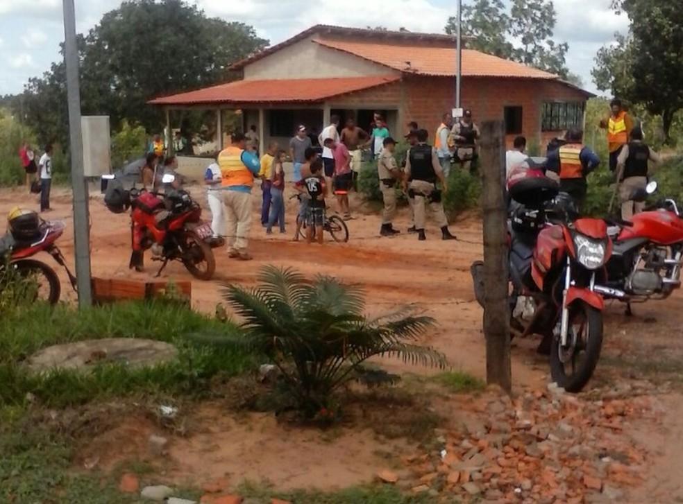 Casa onde o crime aconteceu, no setor Araguaína Sul II, em Araguaína (Foto: Divulgação)