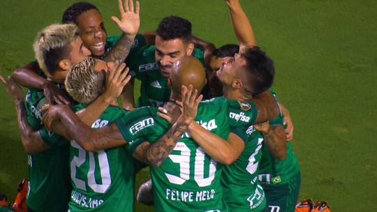 O gol de Santos 0 x 1 Palmeiras pelas semifinais do Paulistão 2018