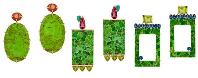 Os brincos de turquesa verde de Emar Batalha (Foto: Divulgação)