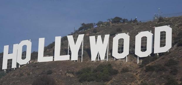 Letreiro de Hollywood após a reestauração (Foto: Agência EFE/ Armando Arorizo)