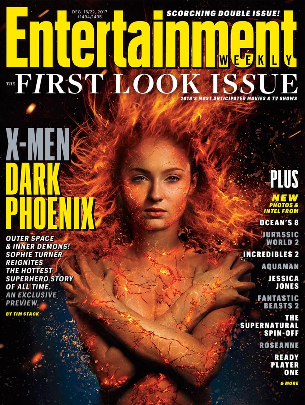 Sophie Turner, a Jean Grey de 'X-Men: Apocalipse', assume a identidade de Fênix em 'X-Men: Fênix Negra' (Foto: Divulgação)