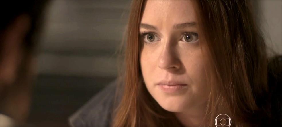 Eliza visita Jonatas na prisão — Foto: TV Globo