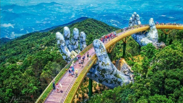 Golden Gate, a nova ponte do Vietnã (Foto: reprodução/bazan travel)
