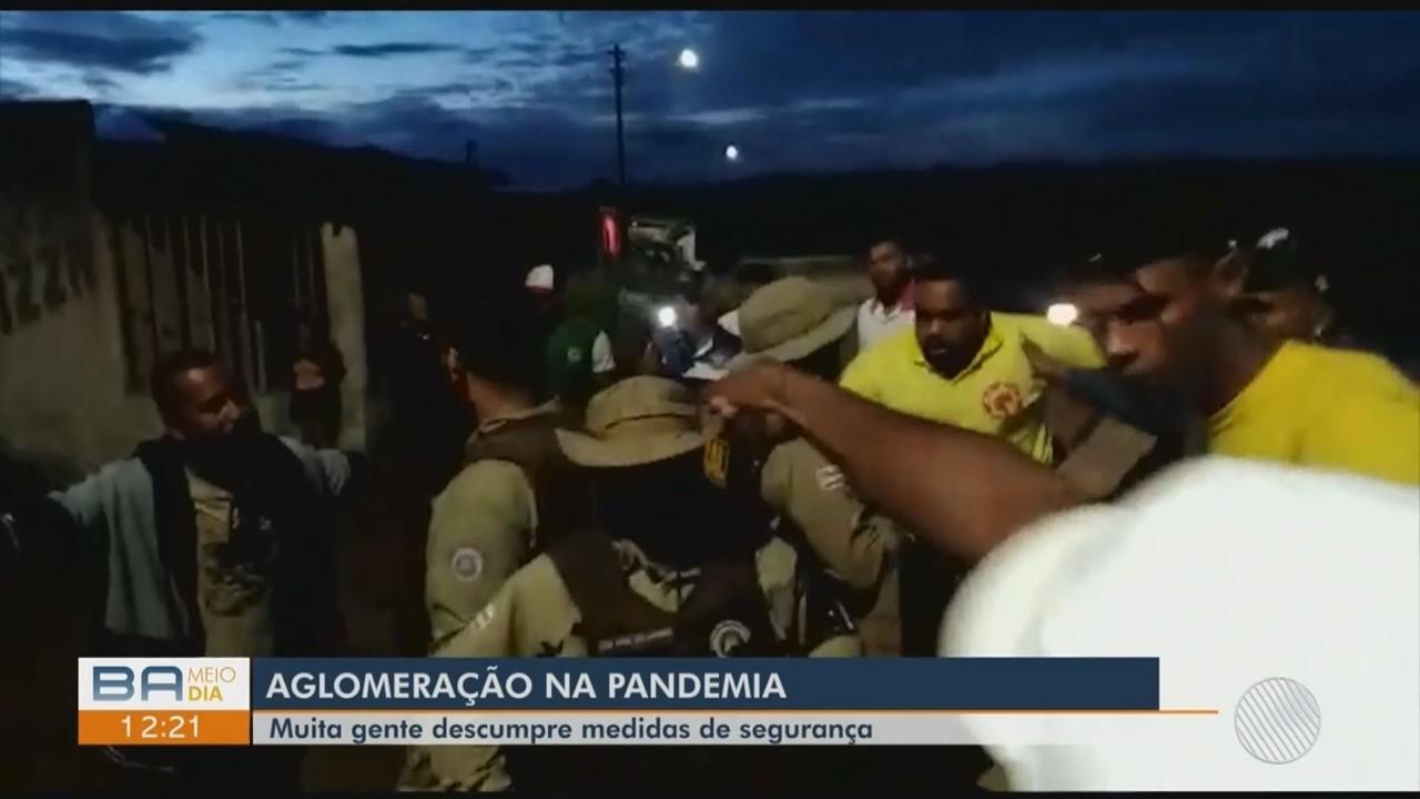 Polícia encerra festa com aglomeração na região de Limeira, em Vitória da Conquista