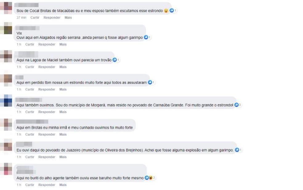 Moradores da Bahia relatam luminosidade no céu seguida de barulho e pesquisadores suspeitam de meteoro — Foto: Reprodução/Redes Sociais