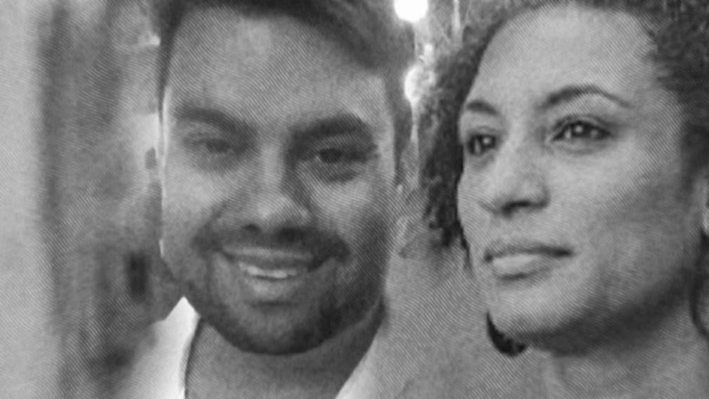 Marielle Franco e Anderson Gomes foram mortos no dia 14 de março, no Rio de Janeiro — Foto: Reprodução/ TV Globo