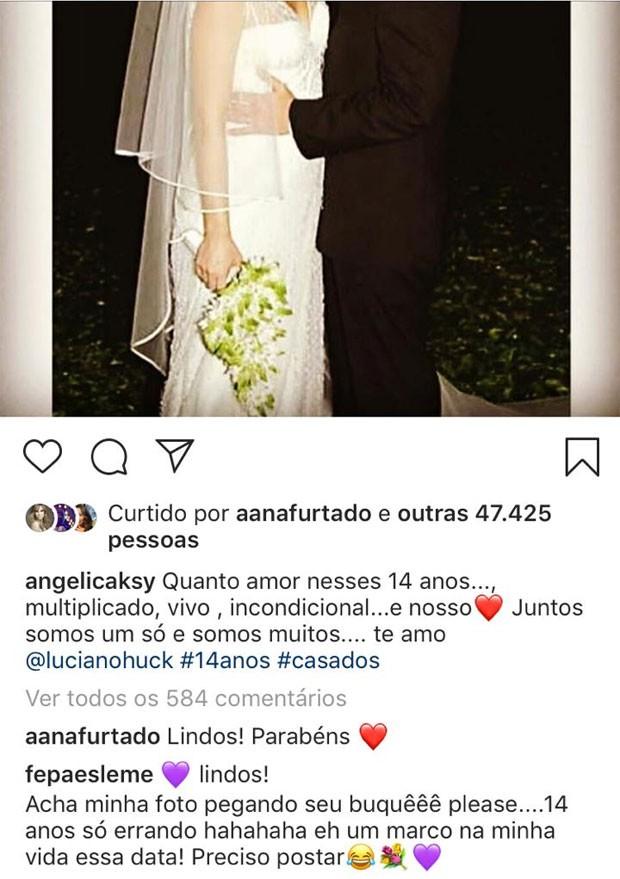 Fernanda Paes Leme conta que pegou buquê em casamento de Angélica e Huck  (Foto: Reprodução)