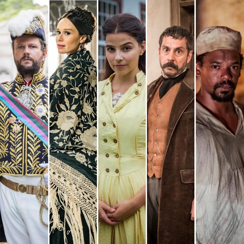 'Nos Tempos do Imperador' estreia dia 9 de agosto — Foto: Globo/João Miguel Júnior/Fábio Rocha/Paulo Belote