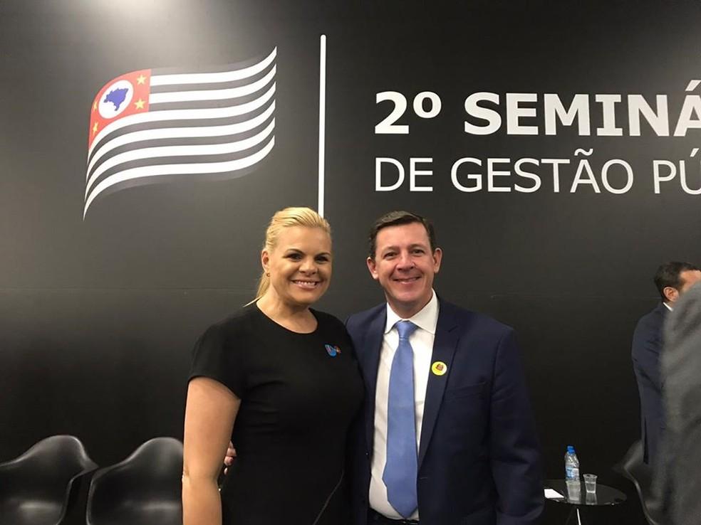 A deputada estadual Carla Morando e o marido prefeito de São Bernardo do Campo. — Foto: Divulgação