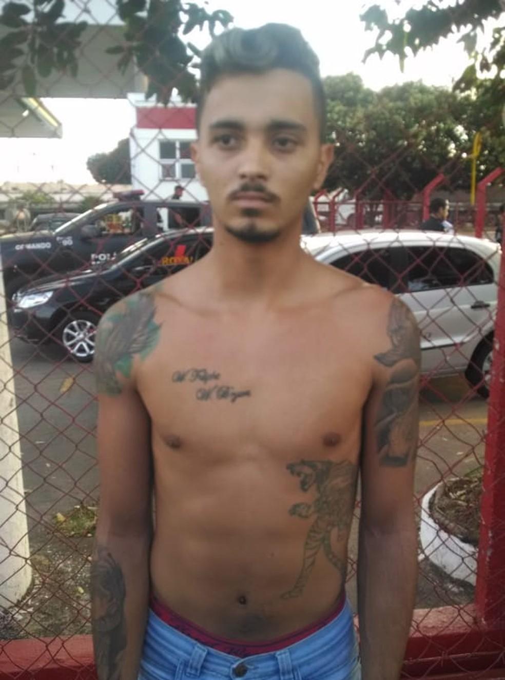 Foragido de Araguaína estava escondido em Goiânia (Foto: Divulgação/Polícia Civil)