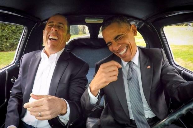 Jerry Seinfeld e Barack Obama (Foto: Divulgação)