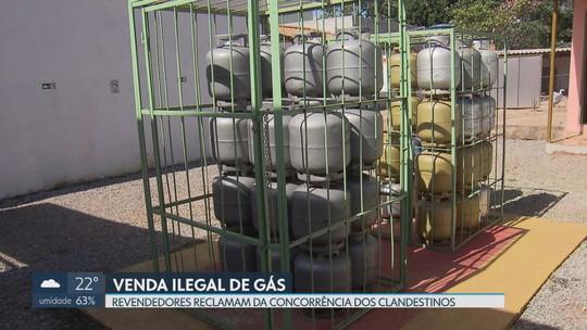 Revendedores de gás de cozinha reclamam da concorrência dos clandestinos no DF