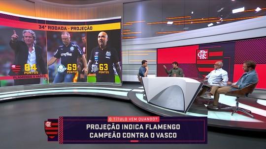 Seleção SporTV projeta Flamengo campeão do Brasileirão na 34ª rodada, em clássico contra o Vasco