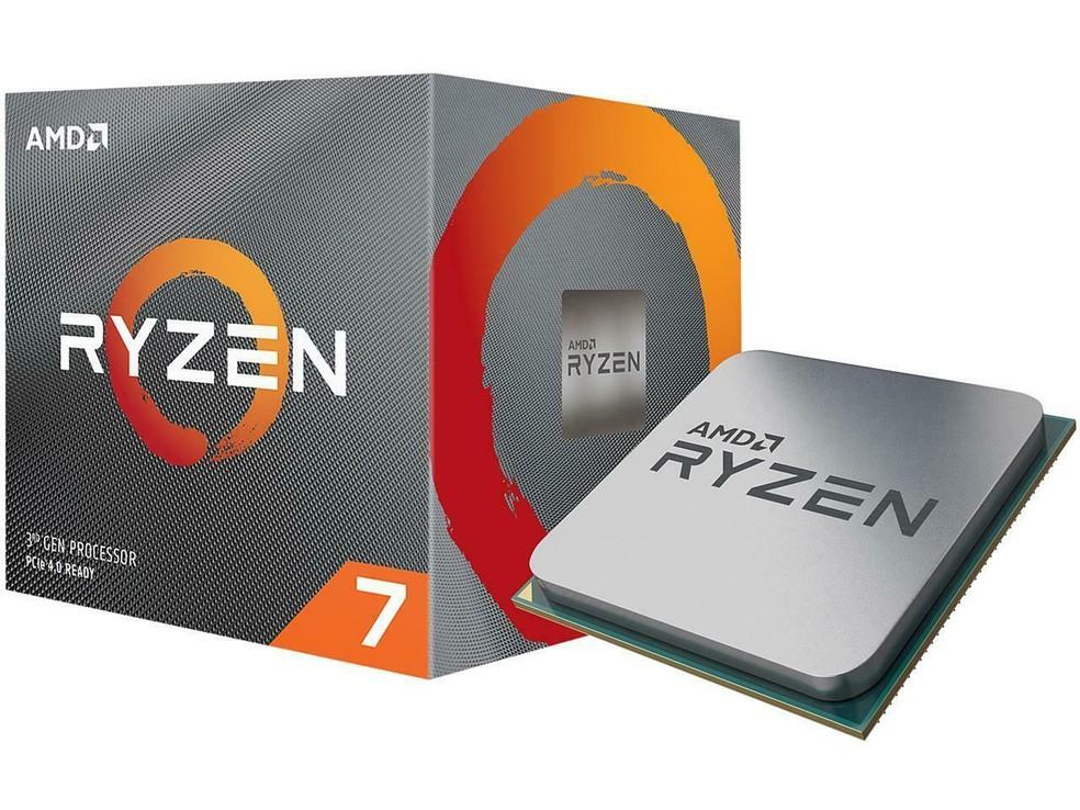 Ryzen 7 3700X é octa-core com 16 threads e suporte a PCIe 4.0 — Foto: Divulgação/AMD