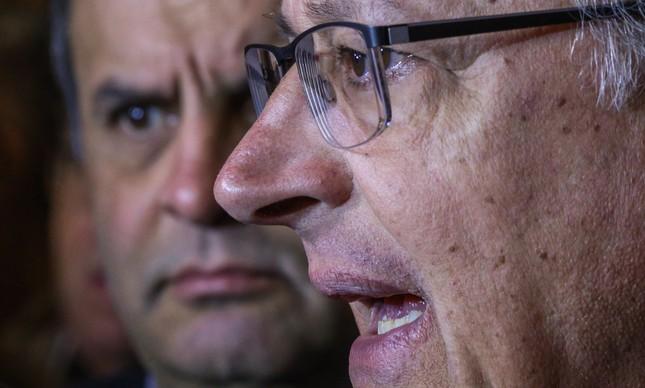 Os tucanos Aécio e Alckmin