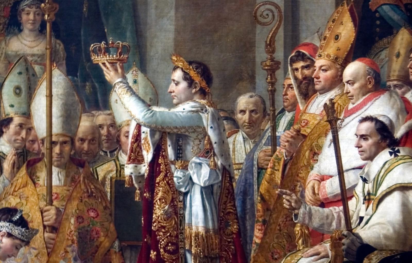 A coroação de Napoleão Bonaparte (Foto: Wikimedia Commons)