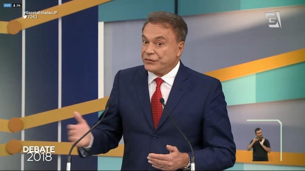 Alvaro Dias (Pode) no debate da TV Gazeta (Foto: Reprodução/TV Gazeta)