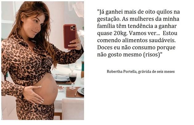 Robertha Portella está grávida do empresário Bruno Coimbra (Foto: Reprodução)