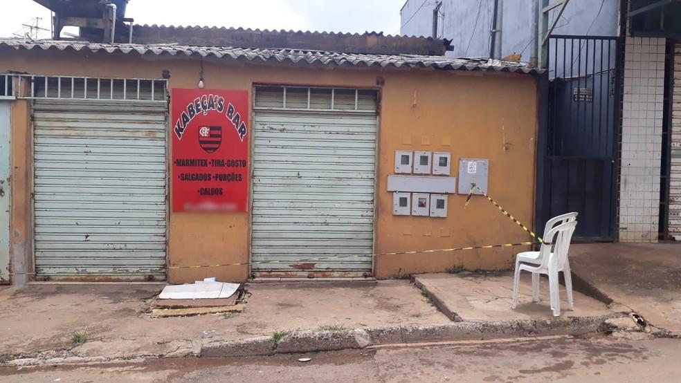 Bar onde homem foi baleado em Sobradinho II, no DF — Foto: Polícia Civil/Reprodução