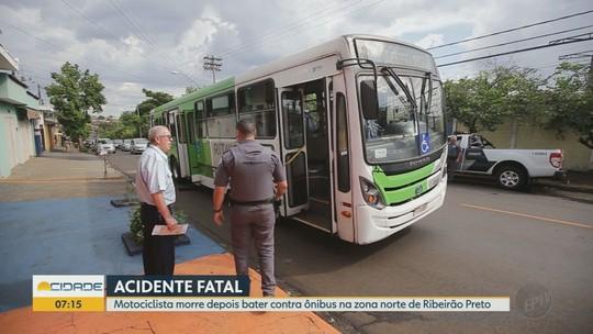 Motociclista morre após derrapar e entrar embaixo de ônibus em Ribeirão Preto, SP