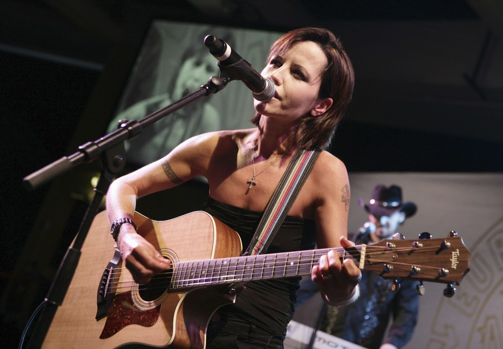 Dolores O'Riordan, vocalista da banda irlandesa The Cranberries (Foto: AP Photo/Bruno Bebert)