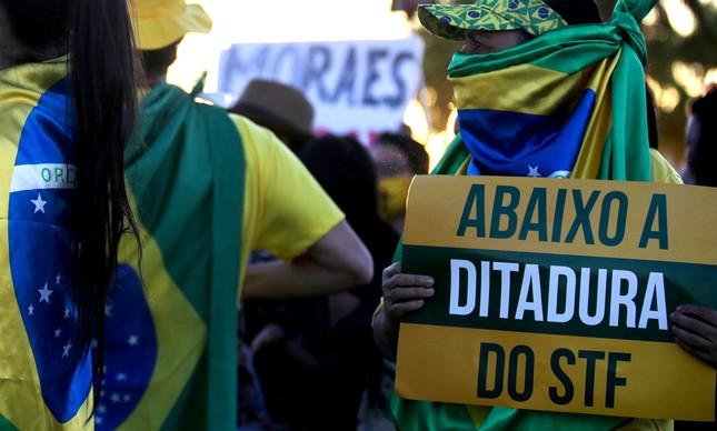 Protesto contra o STF em Brasília