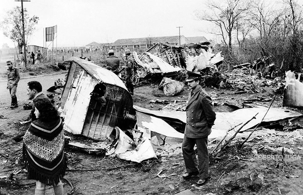 Maior desastre aéreo de MS foi no dia 18 de setembro de 1974, em Ponta Porã (MS). — Foto: Roberto Higa