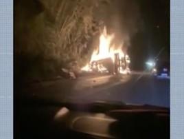 Acidente entre ônibus e carreta deixa 5 mortos e fere 10 na BA (Reprodução)