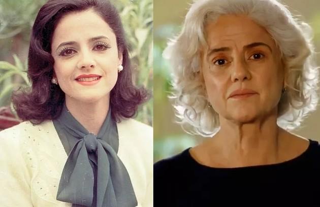 Marieta Severo interpretou Catarina, mãe de Téo (Marcos Frota). Ela está no elenco de 'Um lugar ao sol', próxima novela das 21h (Foto: Reprodução)