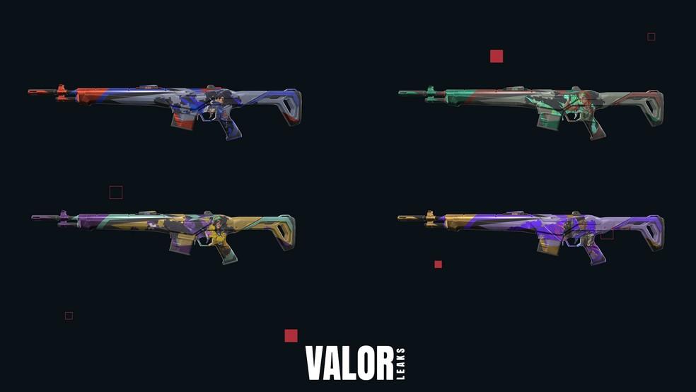 Linha Quebra-cabeça da arma Guardian — Foto: Reprodução/Valorleaks