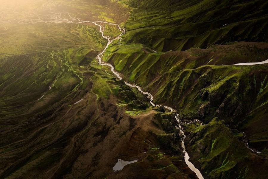 Essas imagens aéreas de tirar o fôlego da Islândia parecem pinturas (Foto: Albert Dros)